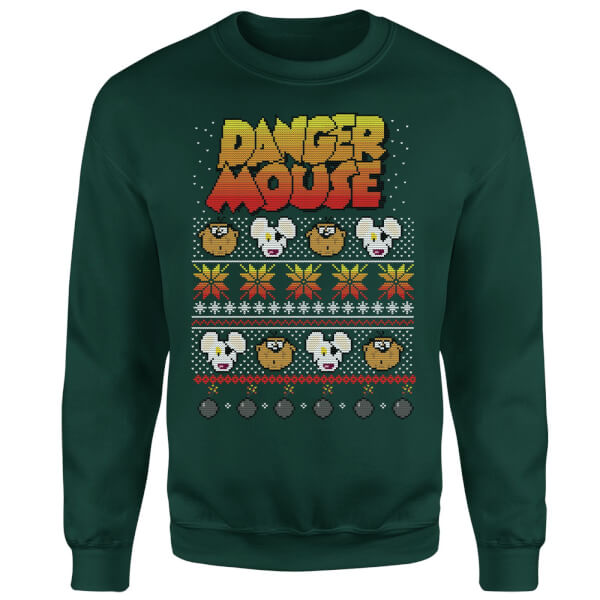 Danger Mouse Christmas Sweatshirt - Green