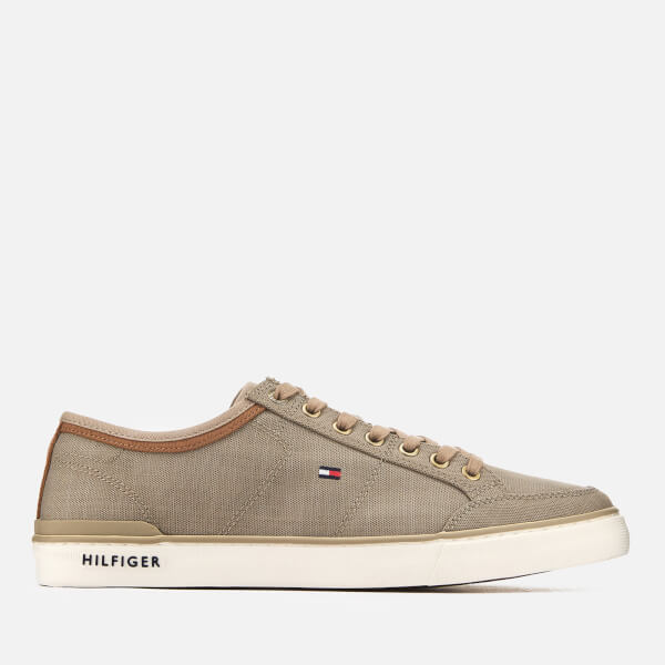 Tommy Hilfiger Men's Core Material Mix Trainers - Cobblestone