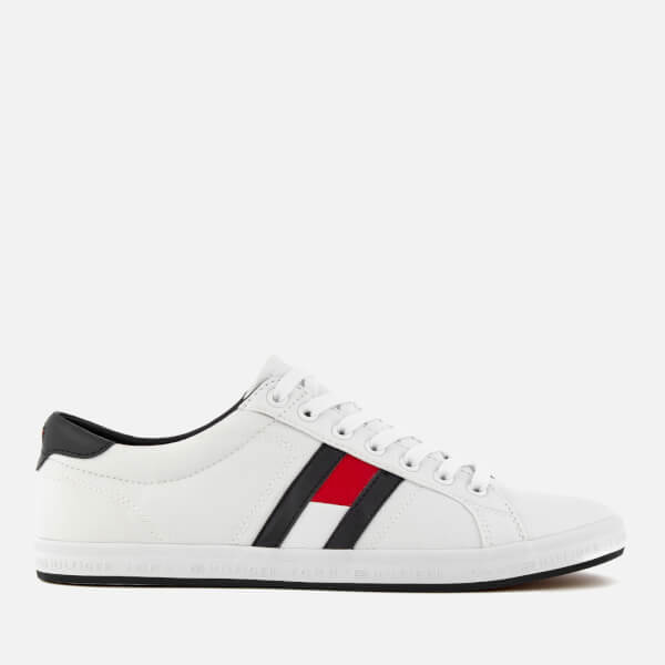 436d513a1959 Tommy Hilfiger Men s Essential Flag Details Trainers - White  Image 1