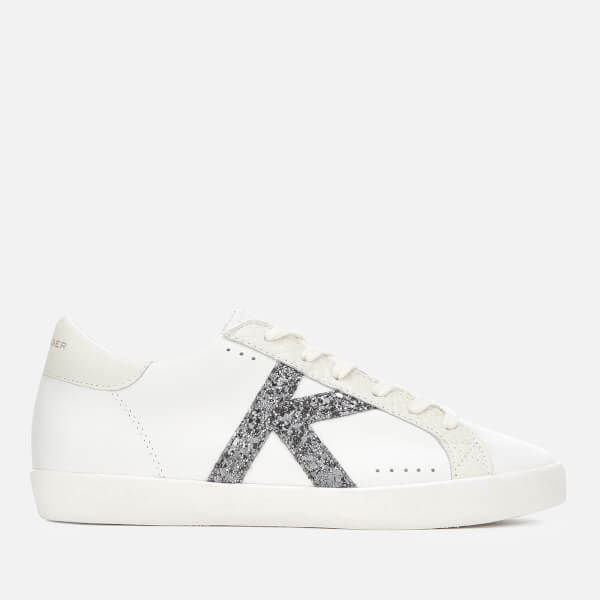 Kurt Geiger London Women's Leif Lightening Bolt Leather Cupsole Trainers - White