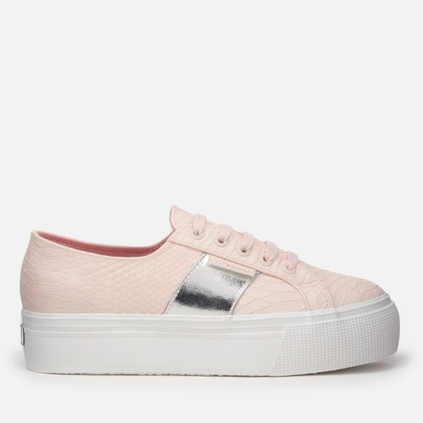 Superga Women's 2790 Punsnakew Flatform Trainers - Light - UK 3 1pfyizc