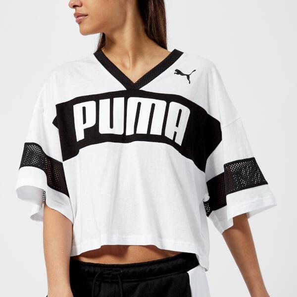 Puma Women s Urban Sports Cropped T-Shirt - Puma White Sports ... 9ce20c8099