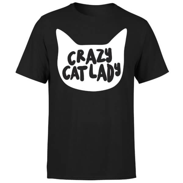 Crazy Cat Lady T-Shirt - Black