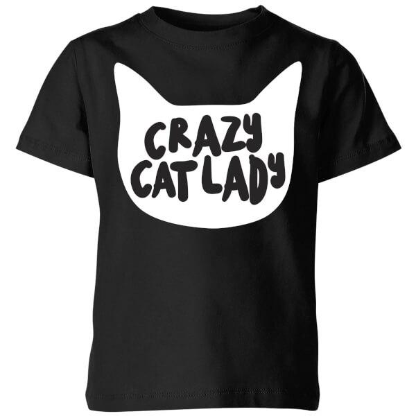 Crazy Cat Lady Kids' T-Shirt - Black