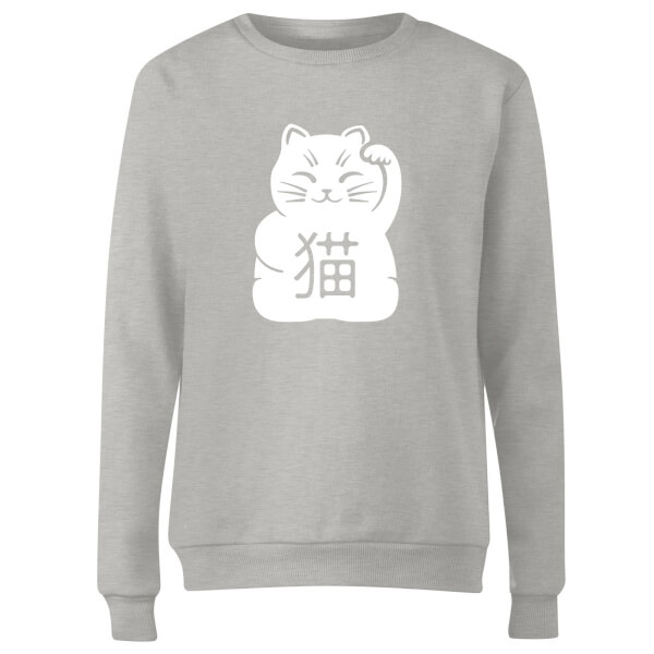 Lucky Cat Women's Sweatshirt - Grey