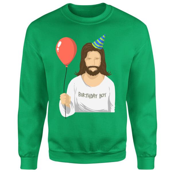Birthday Boy Sweatshirt - Kelly Green