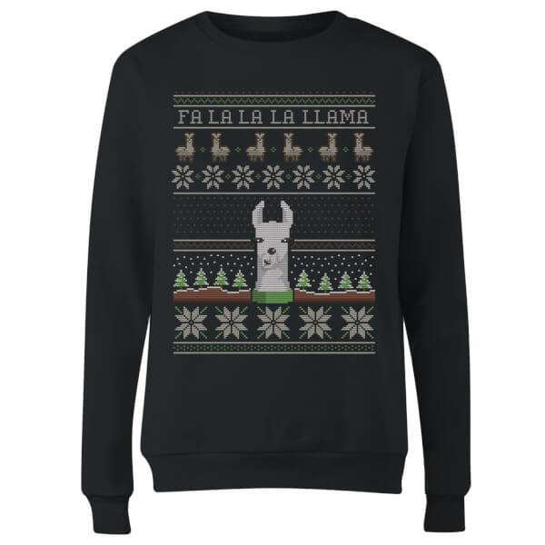 Fa La La La Llama Women's Sweatshirt - Black