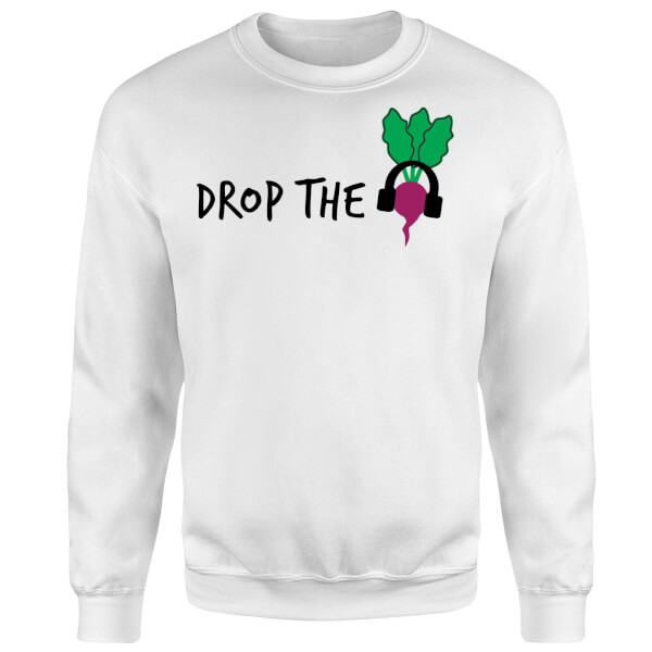Drop the Beet Sweatshirt - White