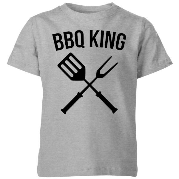 BBQ King Kids' T-Shirt - Grey