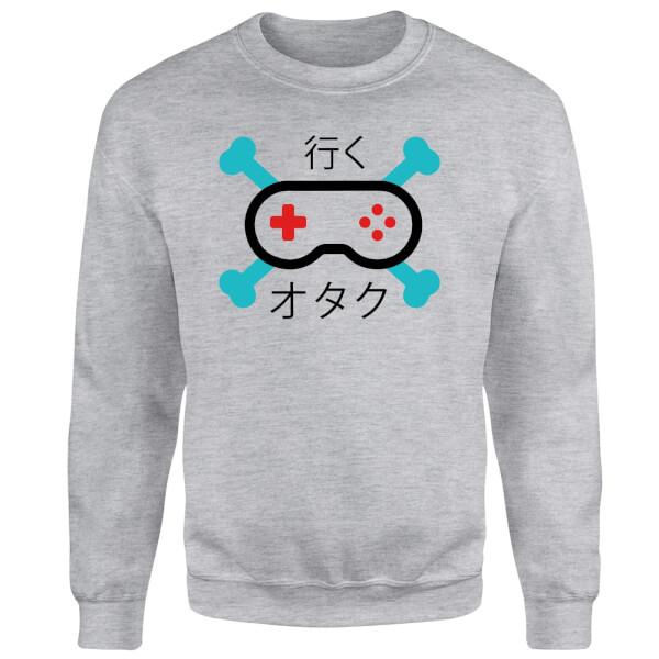 Skull and Cross Bones Controller Sweatshirt - Grey