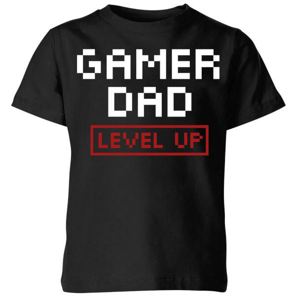 Gamer Dad Level Up Kids' T-Shirt - Black