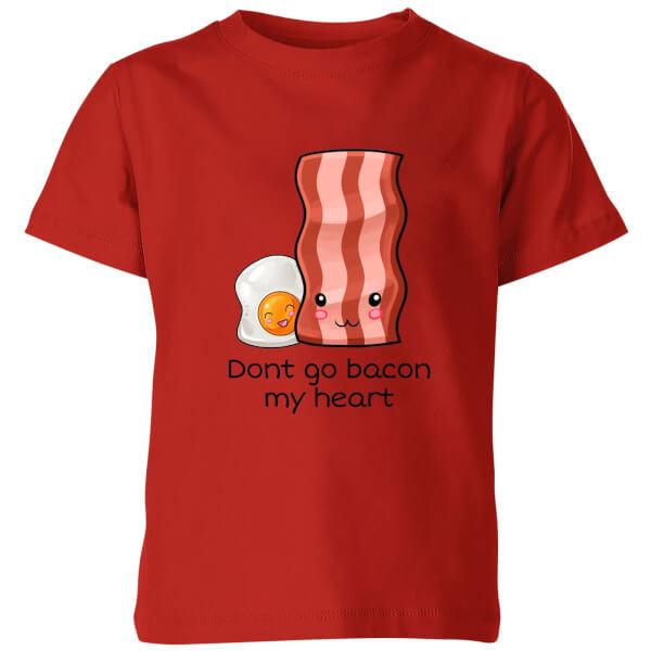 My Little Rascal Don't Go Bacon My Heart Kids' T-Shirt - Red