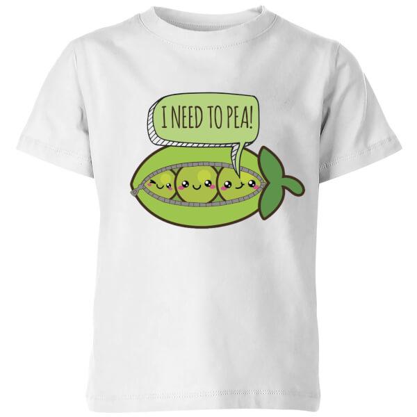 I need to Pea Kids' T-Shirt - White