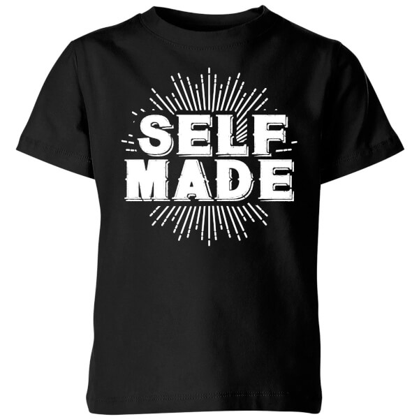 Self Made Kids' T-Shirt - Black
