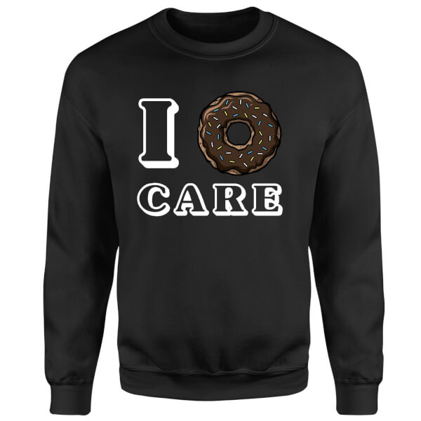 I Donut Care Sweatshirt - Black