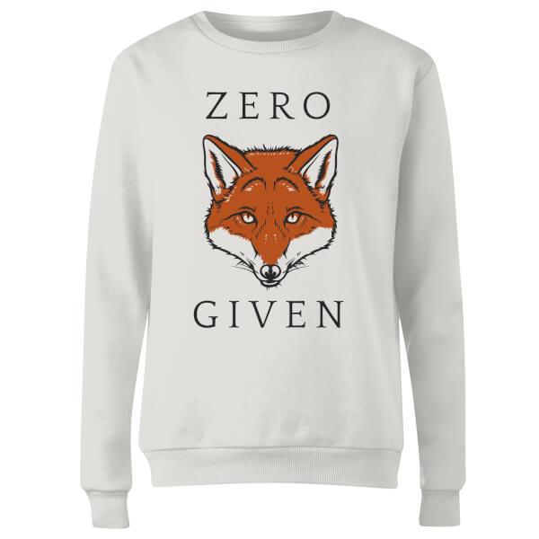 Zero Fox Given Women's Sweatshirt - White