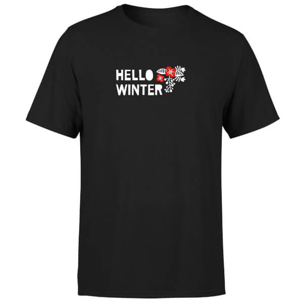 Hello Winter T-Shirt - Black