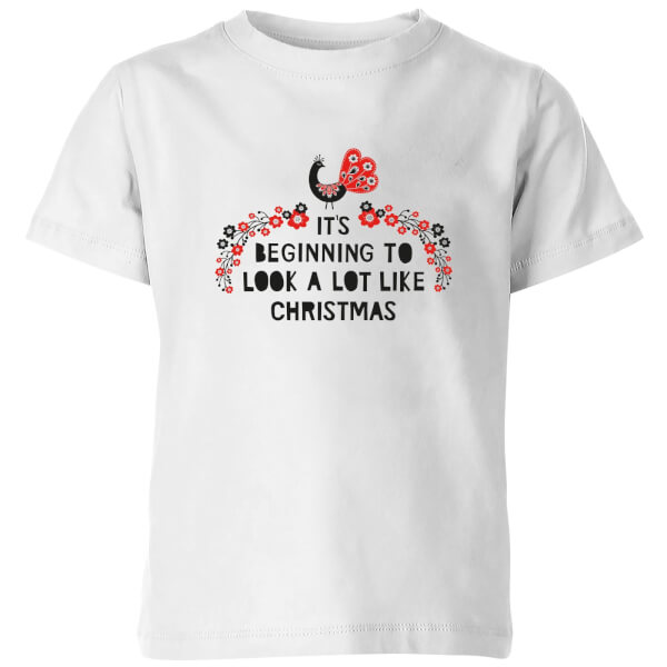 It's Beginning To Look A Lot Like Christmas Kids' T-Shirt - White