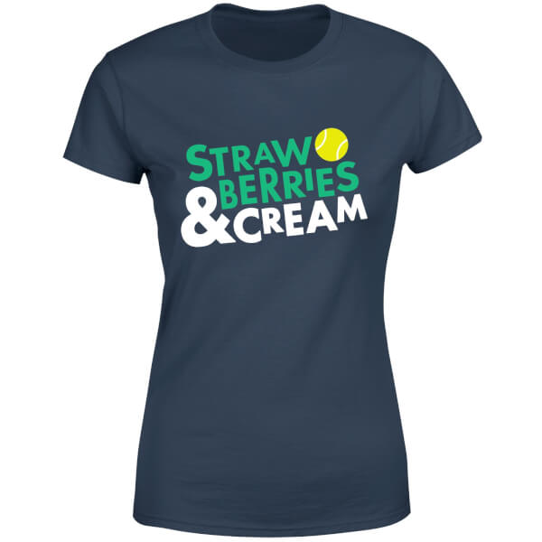 Strawberries and Cream Women's T-Shirt - Navy