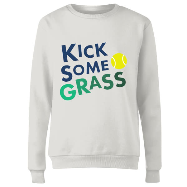 Kick Some Grass Women's Sweatshirt - White