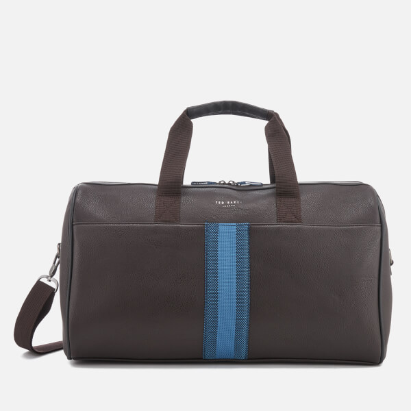 bf2339d60647d Ted Baker Men s Sanchez Webbing Holdall Bag - Chocolate  Image 1