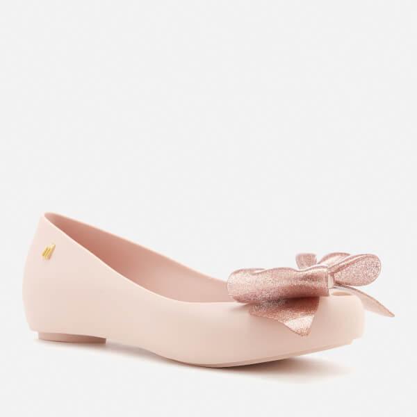 e12d747df8cd Melissa Women s Ultragirl Sweet Bow 19 Ballet Flats - Blush Glitter  Image 2