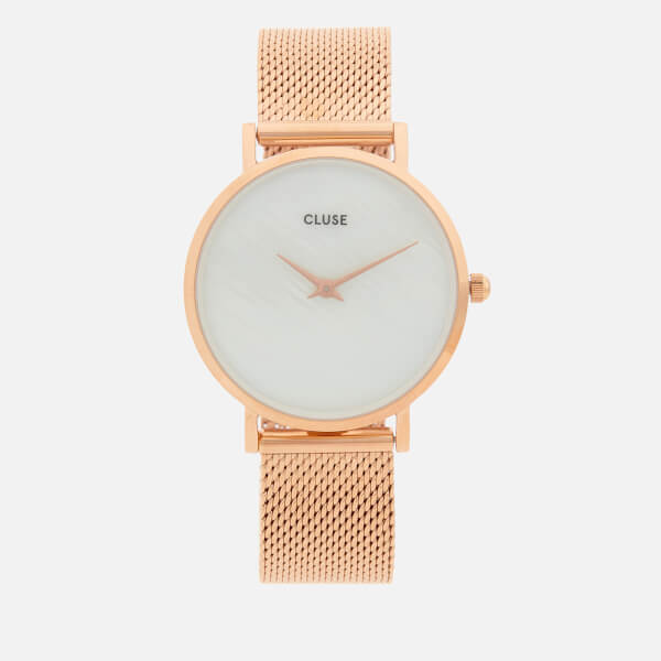 Cluse Women's Minuit La Perle Watch - Rose Gold