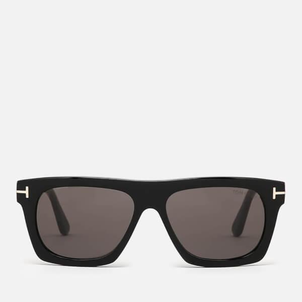 Tom Ford Men's Ernesto Square Frame Sunglasses - Coloured Havana/Green