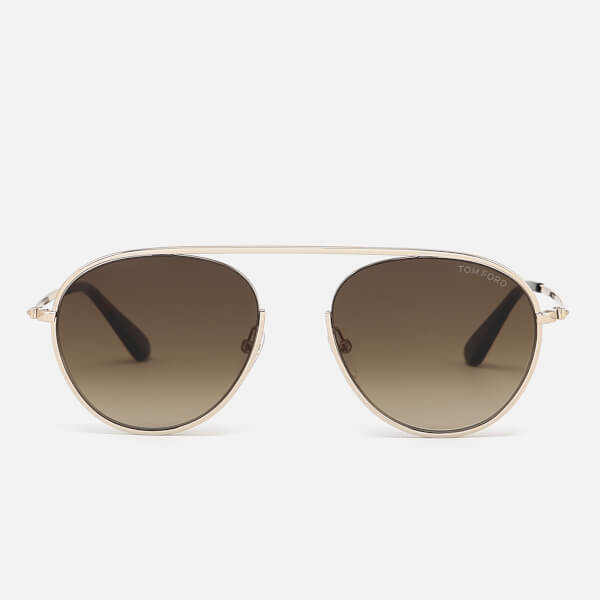 Tom Ford Men's Keith Aviator Style Sunglasses - Shiny Rose Gold/Gradient Roviex