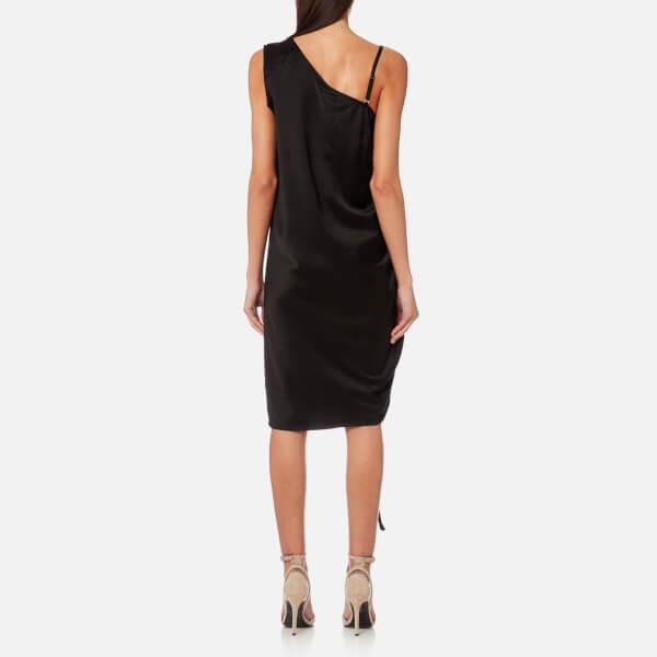 Asymmetric Drape Dress: T By Alexander Wang Women's Asymmetric Drape Knee Length