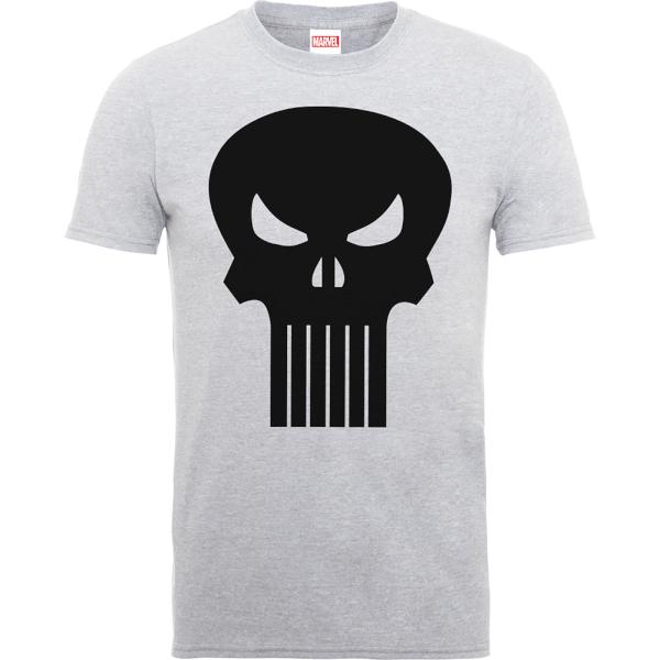 Marvel The Punisher Skull Logo Men's Grey T-Shirt