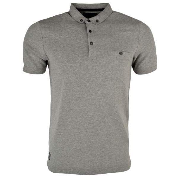 Dissident Men's Dalwood Polo Shirt - Mid Grey Marl