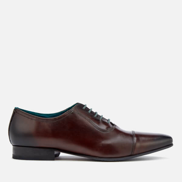 7d5b8043f Ted Baker Men S Karney Leather Toe Cap Oxford Shoes Brown Free
