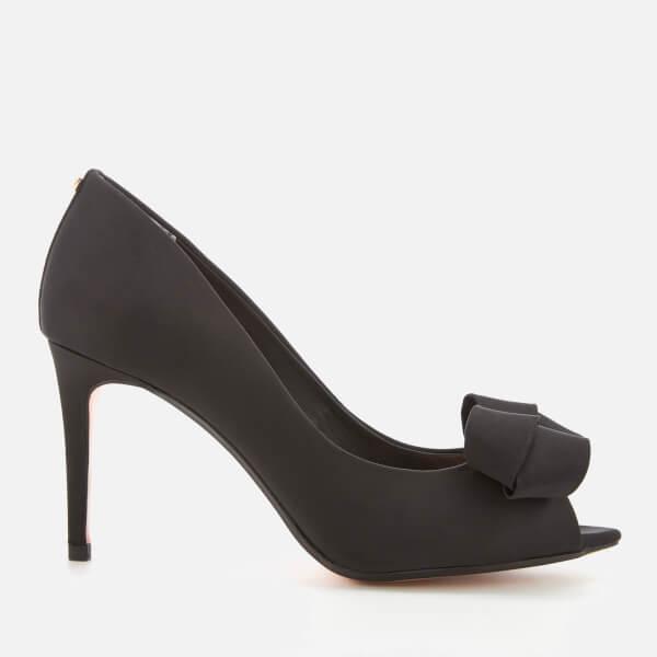 Ted Baker Women's Vylett Satin Peep Toe Heels - Black