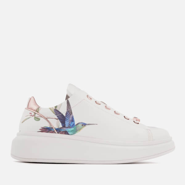696eeb77c19ac6 ... Ted Baker Women s Ailbe Leather Platform Trainers - Highgrove  Hummingbird Image 1 clearance prices 63d47 ...