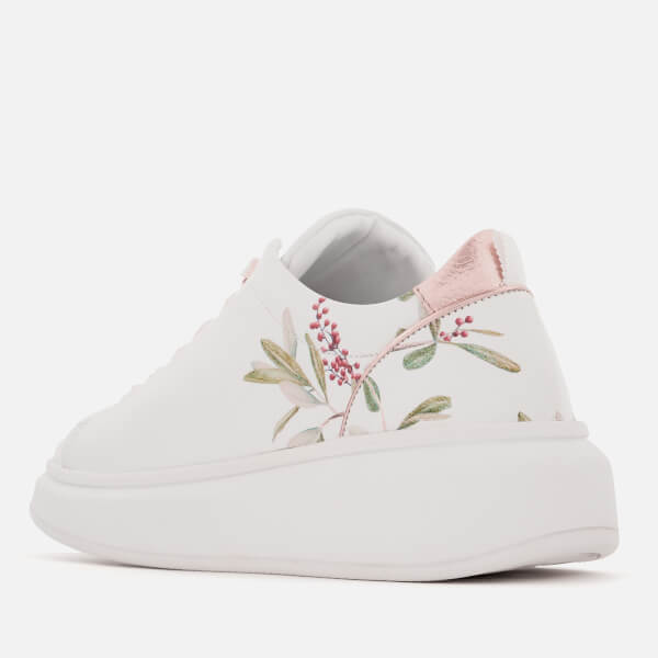 37a031af1f92 Ted Baker Women s Ailbe Leather Platform Trainers - Highgrove Hummingbird   Image 2