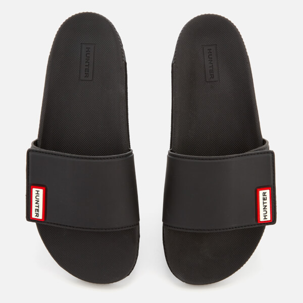 8c998b4e9536d3 Hunter Women s Original Adjustable Slide Sandals - Black Womens ...
