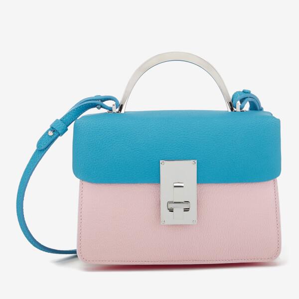 The Volon Women's Data Mix Small Bag - Aquablue & Pink