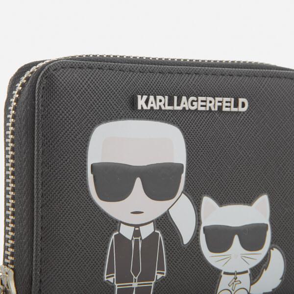 K/Ikonik Small Zip Wallet Karl Lagerfeld jivrJlB