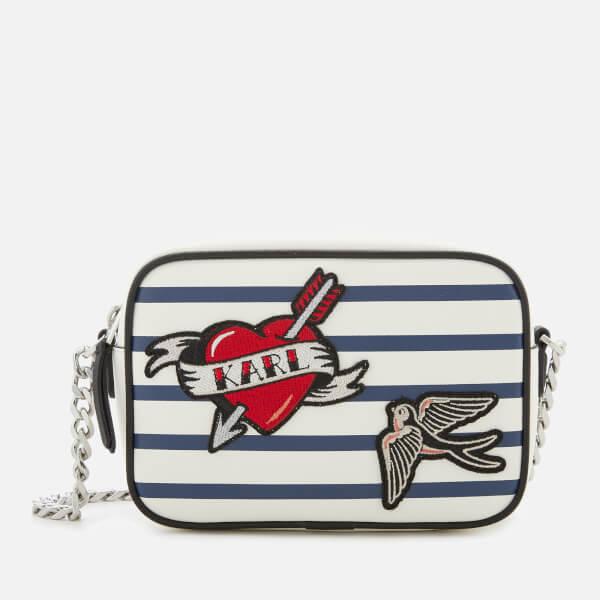 Karl Lagerfeld Women's Captain Karl Cross Body Bag - Stripes