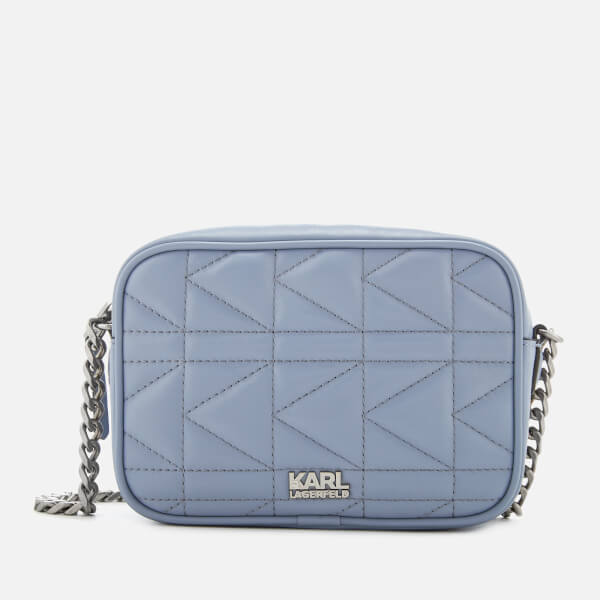 Karl Lagerfeld Women's K/Kuilted Cross Body Bag - Mistic Blue