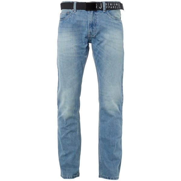 Smith & Jones Men's Borromini Belted Jeans - Light Wash