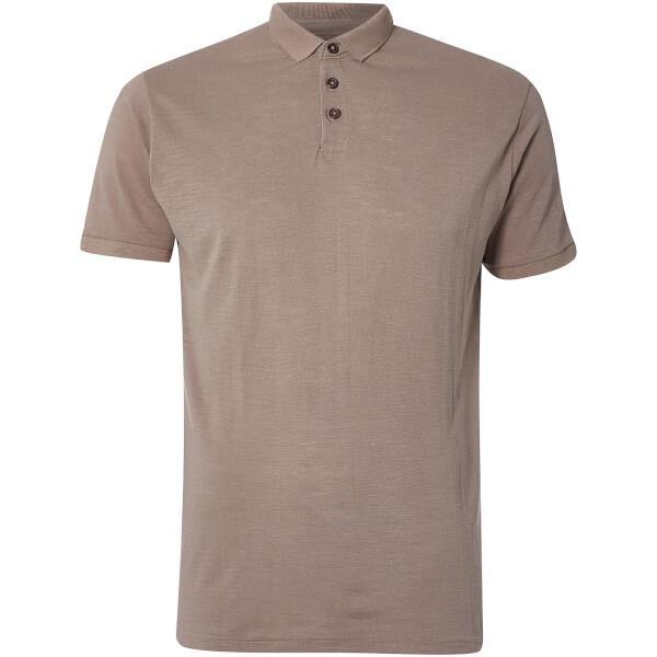 D-Struct Men's Slub Polo Shirt - Mink