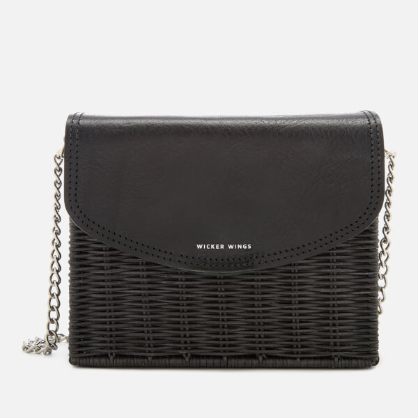 Wicker Wings Women's Kuang Wicker Bag - Black