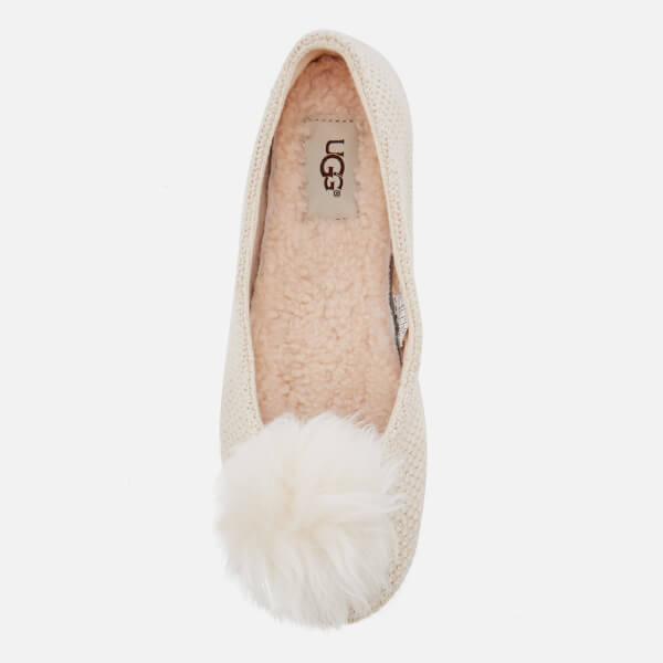 89a459b8d33 UGG Women s Andi Cotton Knitted Slippers - Cream  Image 3