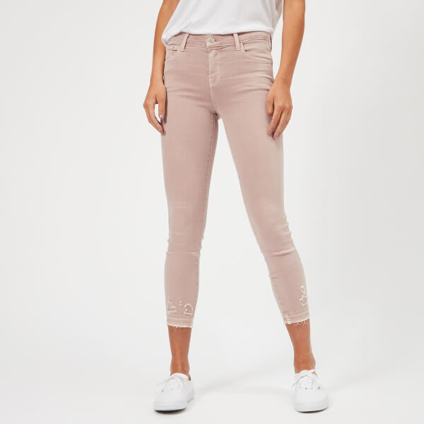 J Brand Women's 835 Mid Rise Capri Jeans - Vinca Destruct