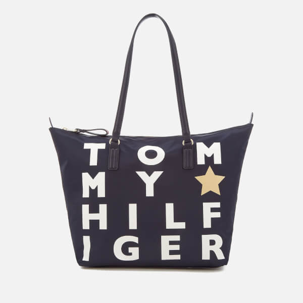 Tommy Hilfiger Women's Poppy Logo Tote Bag - Navy