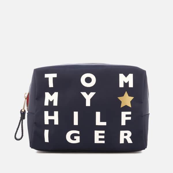 Tommy Hilfiger Women's Poppy Logo Print Wash Bag - Navy