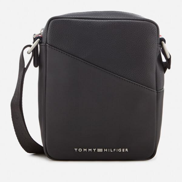Tommy Hilfiger Men's TH Diagonal Mini Reporter Bag - Black