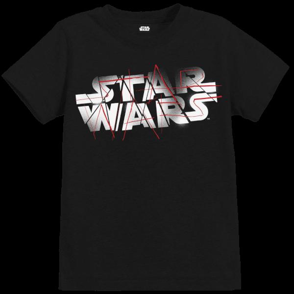 Star Wars The Last Jedi Spray Kid's Black T-Shirt